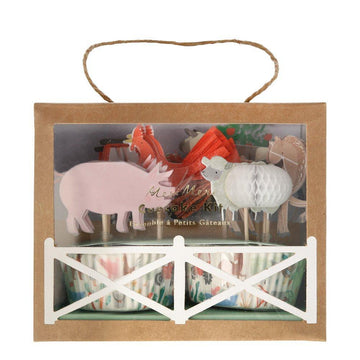 Farm Animal Cupcake Kit
