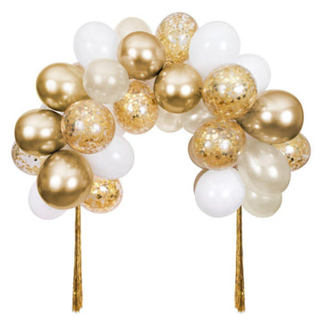 Gold Balloon and Tassels Arch