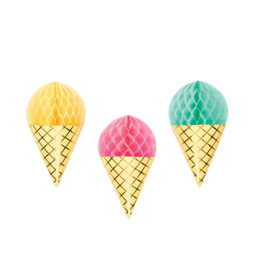 Ice Cream Honeycomb Cones