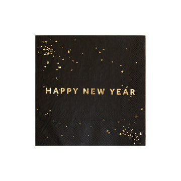 Gold Flecked Happy New Year Napkins