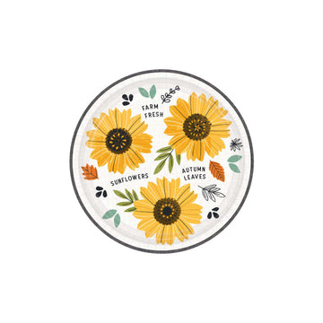 Harvest Market Sunflower Plates