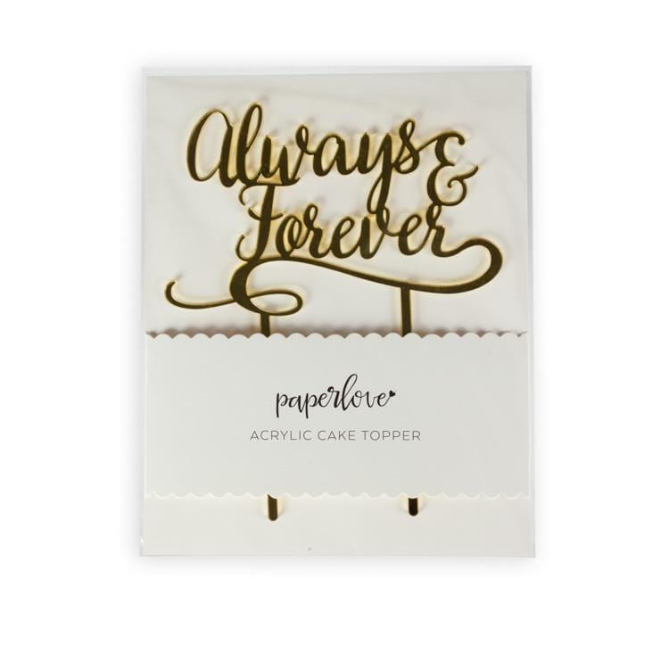 Always and Forever Cake Topper