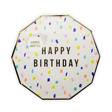 Meri Meri Confetti Rainbow Happy Birthday Plates