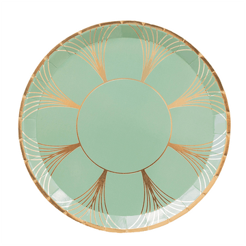 Sage Green Gatsby Party Plates