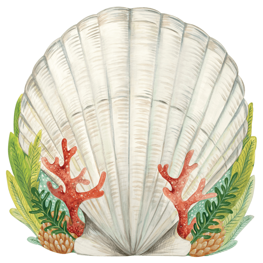 Mermaid Shell Die Cut Placemat