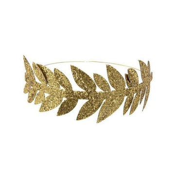 Gold glitter laurel crown