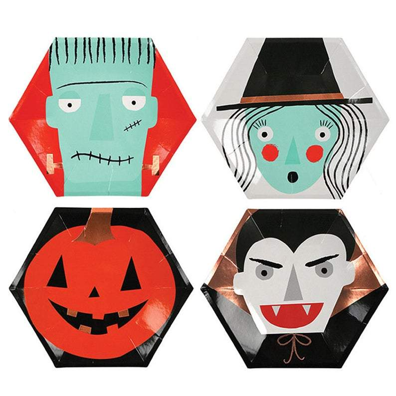 Meri Meri Monster Halloween Plates
