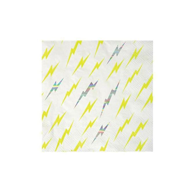 Superhero Lightning Party Napkins