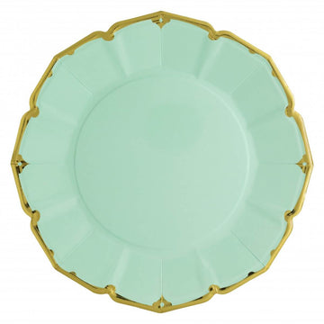 Fancy Mint Green Paper Plates