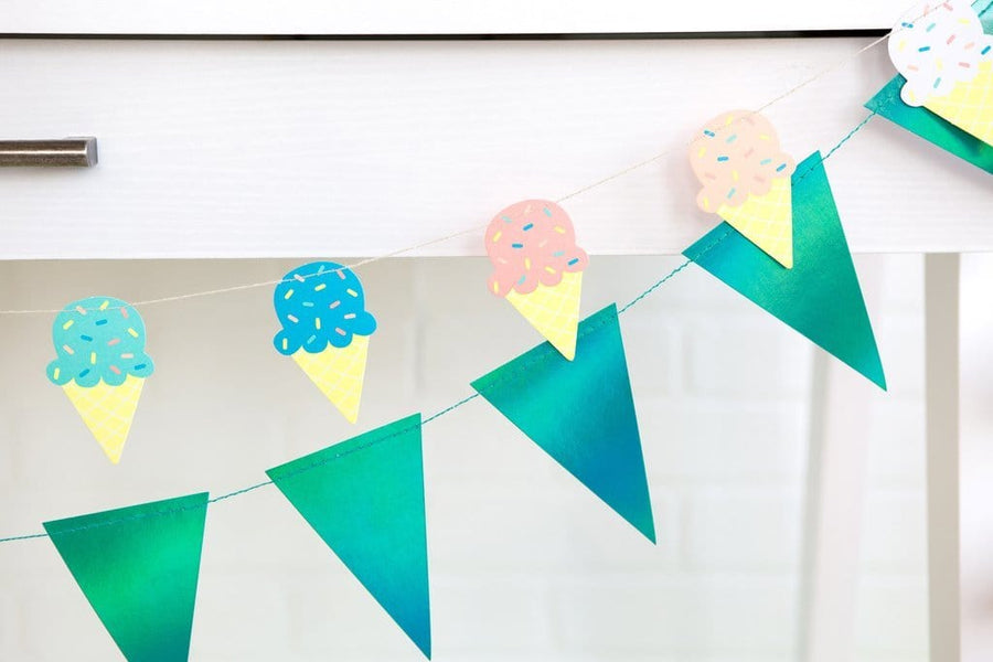 Ice Cream Cone Mini Banner