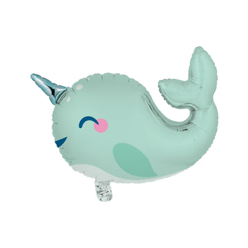Narwhal Metallic Mylar Balloon