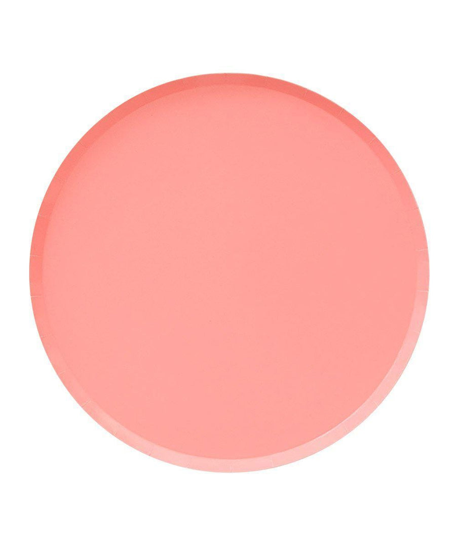 Assorted Pink Ombre Circle Plates - Large