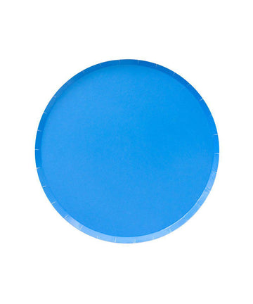 Pool Blue Circle Plates - Small