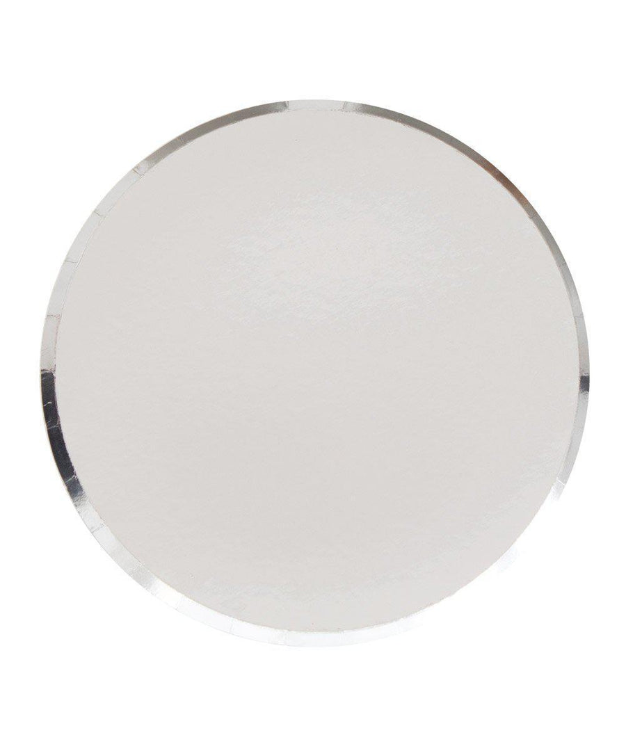 Round Silver Party Plates