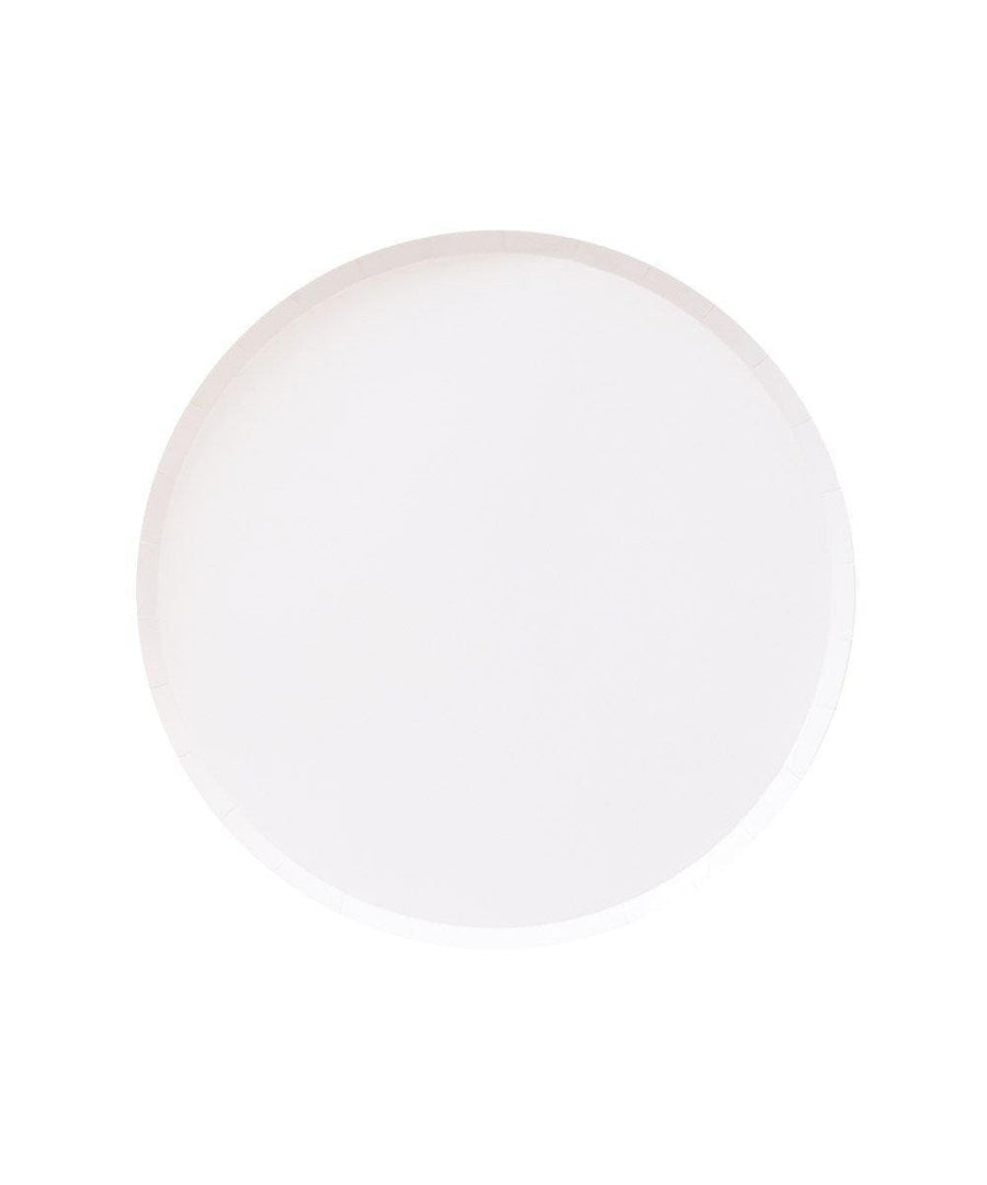 White Circle CakevPlates