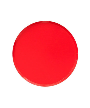 Cherry Red Circle Cake Plate