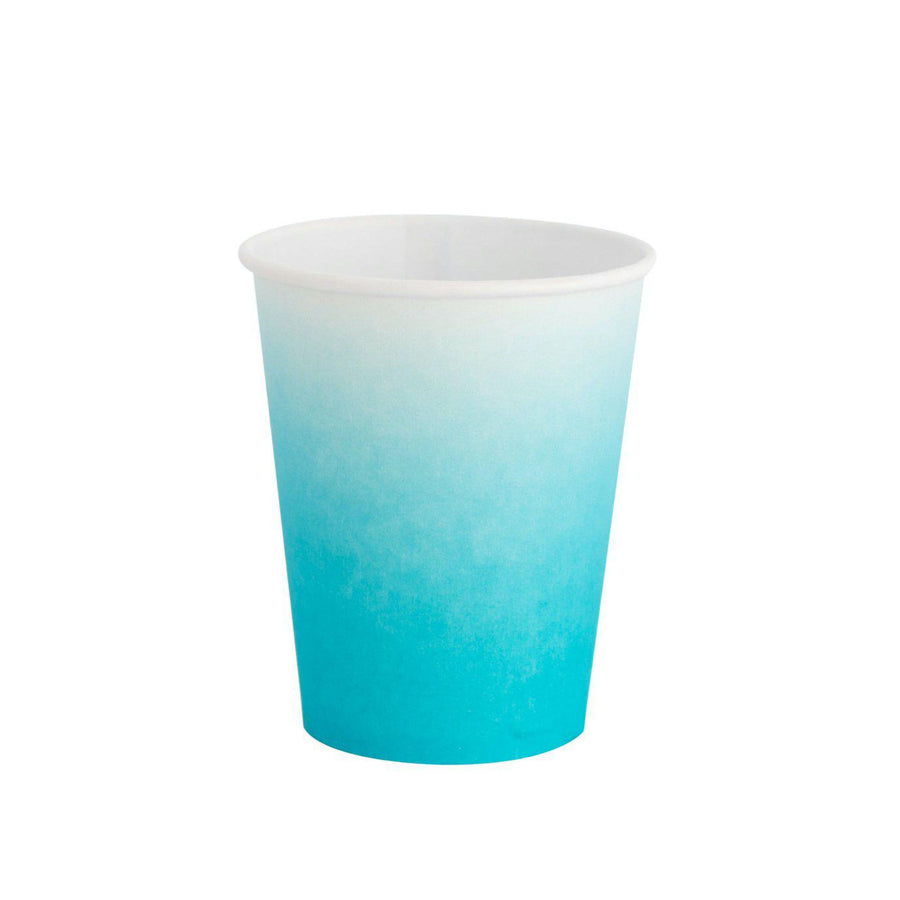 Sky Blue Ombre Party Cups