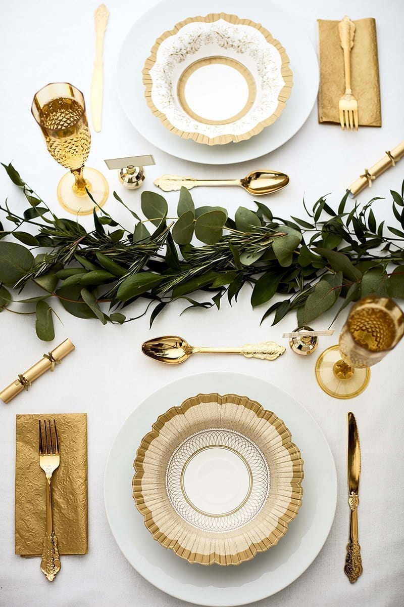 Fancy Disposable Gold Cutlery