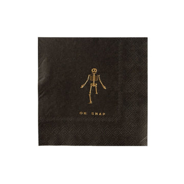 Oh Snap Skeleton Halloween Napkins