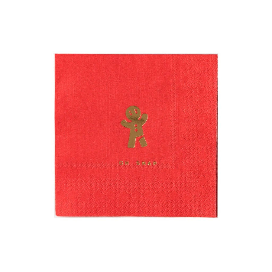 Oh Snap Gingerbread Man Holiday Napkins
