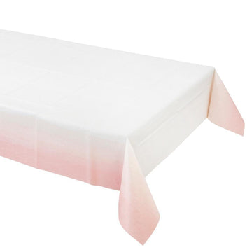 Pink Ombre Paper Tablecloth