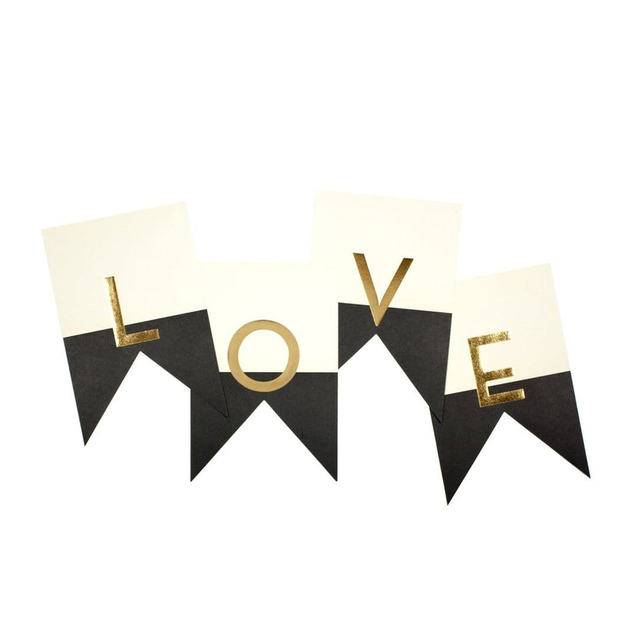 Customizable Black Tie Pennant Banner