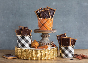 Thanksgiving Plaid Cupcake Cups