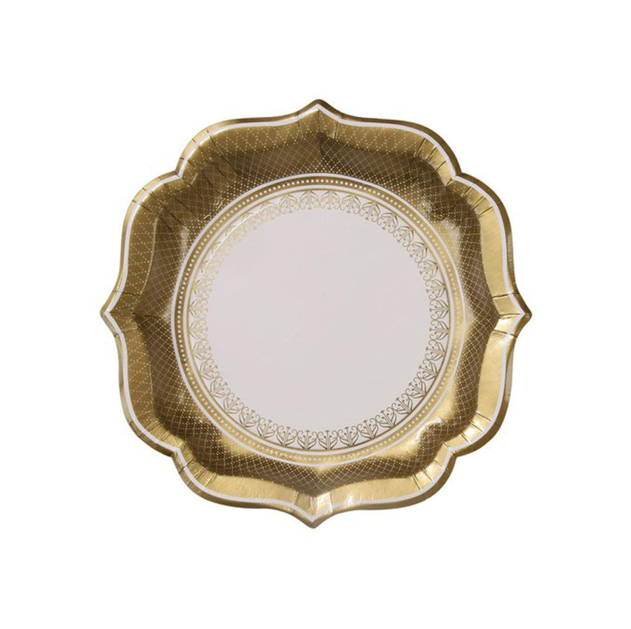 Gold Party Porcelain Plates
