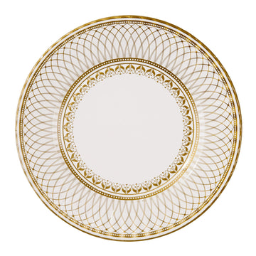 Large Gold Party Porcelain Plates