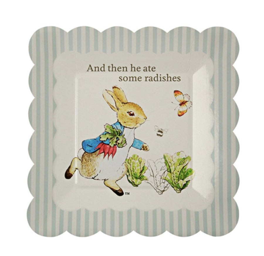 Peter Rabbit Square Scalloped Plates - Small
