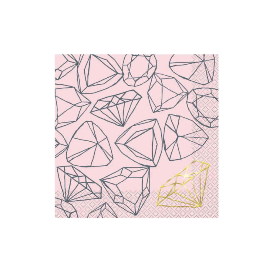 Pink Gem Diamond Napkins