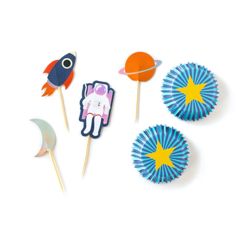 Rocket and Astronaut Cupcake Kit