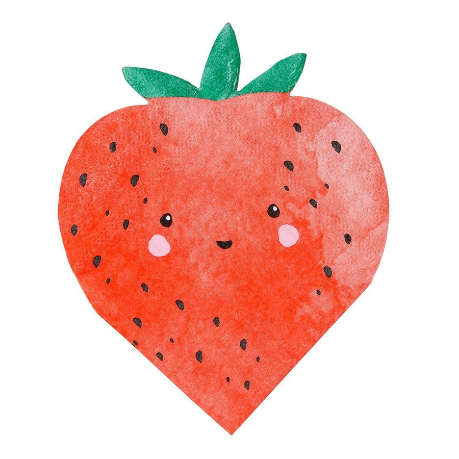Strawberry Die Cut Shaped Napkins