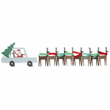 Santa's Car Concertina Card