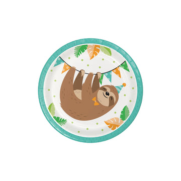 Sloth Party Cake Plates
