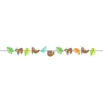 Sloth Party Garland