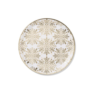 Golden Snowflake Party Plates