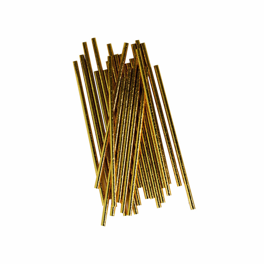 Solid Gold Paper Straws