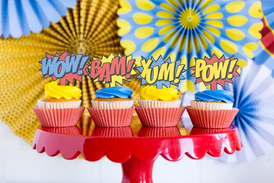 Superhero Pop Comic Cupcake Kit