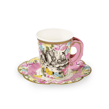 Wonderland Paper Teacups and Saucers