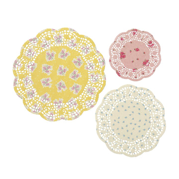 Vintage Floral Tea Party Paper Doilies