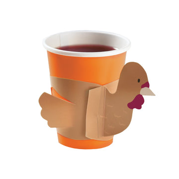 Kids Thanksgiving Turkey Cup Accents