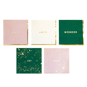 Peace, Love, Wonder, Joy, Hope Boxed Set Napkins