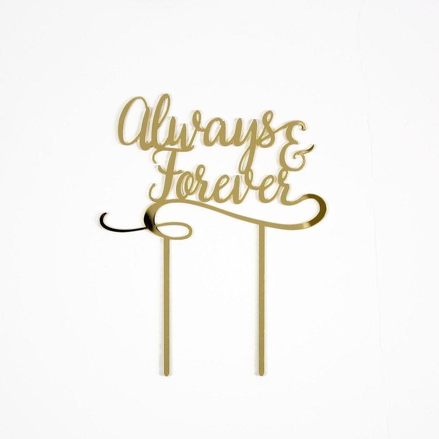 Always and Forever Gold Cake Topper