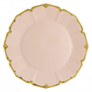 Blush Pink Fancy Paper Plates