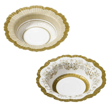 Gold Party Porcelain Bowls