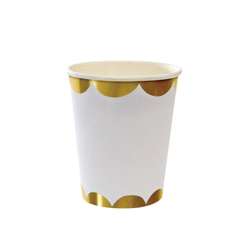 Gold Scalloped Cups