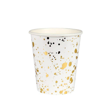 Gold Spatter Cups