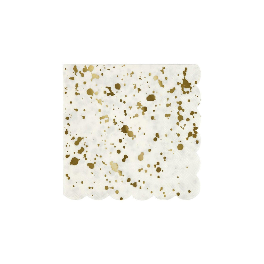 Gold Spatter Napkin - Large