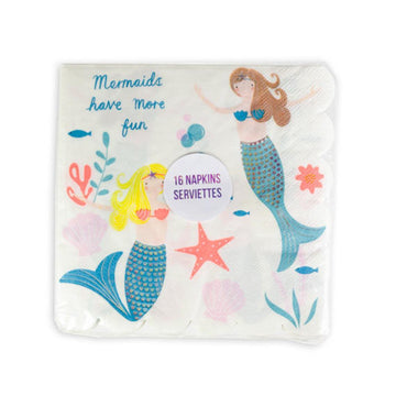 Meri Meri Mermaids Have More Fun Napkins